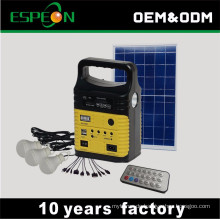 Neues modell mit radio & USB bluetooth fackel für zuhause indoor outdoor 10 watt solarenergie solar licht kit solarstromanlage