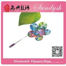 Sundysh Handmade Regenbogen Kristall Blume Broschen