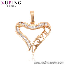 33296 Xuping new design gold pendant trendy triangle shape pendant jewelry for women