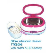 MINI 600ml Limpiador ultrasónico con calentador y pantalla LED