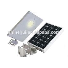 Luz de calle solar integrada 6W para la trayectoria, 6W todo en una luz solar del patio