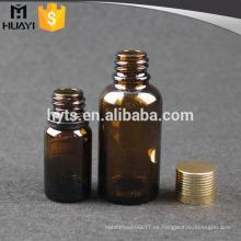 30 ml 10 ml botella de aceite esencial con tapón de rosca de oro