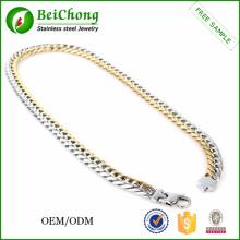 Color cadena para collar de joyas accesorios acero inoxidable para hombre