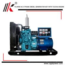 Generador eléctrico trifásico de inicio de fábrica de 20000 vatios Generador portátil de 25 kilovatios de precio de generador de motor diesel en Arabia Saudita