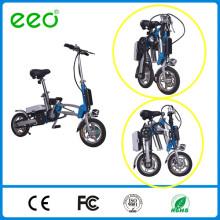 """12 """"bicicleta dobrável Li-íon bateria dobrando bicicleta elétrica com CE"""