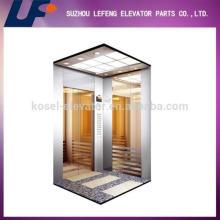 320-800kg Sala de máquinas Menos máquina de tracción ascensor de pasajeros, ascensor completo de pasajeros