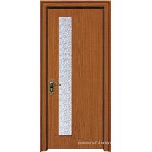 Porte de verre intérieure pour chambre à coucher (WX-PW-156)