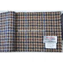 heavy made to measure tweed fabric made by nature material