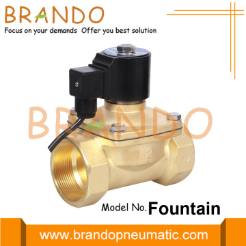 2 Inch Water Fountain Brass Solenoid Valve IP68