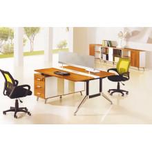 Melamine 2 person office workstation partition