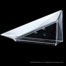 Plato de plástico PP / PS plato desechable platillo triángulo
