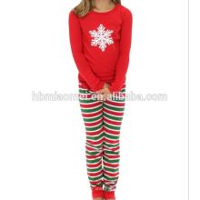 2017 оптовая детская одежда набор девочек пижамы пижамы Рождество семья