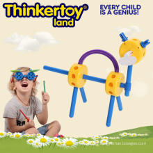 Funny Animal Modular Education Toy pour enfants Blocs de jouets magnétiques