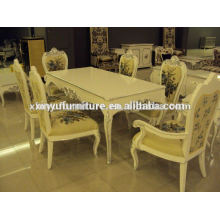 Classical wooden dining table and chairs XD1027