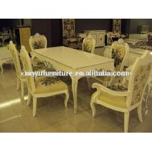 Mesa e mesa de jantar clássica de madeira XD1027