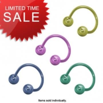 Titan-Legierung Hufeisen Body Piercing Ring