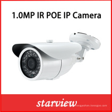 1.0MP IP Poe Impermeable IR Bullet red CCTV cámara de seguridad