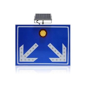 Señal de tráfico solar de luz intermitente LED de aluminio