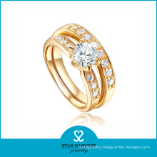 18k Gold Plating 925 Sterling Silver Ring for Ladies (R-0336)