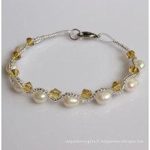 Bracelet à perles d'eau douce Fanncy bon marché (EB1511-1)
