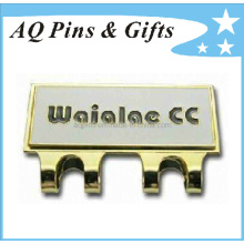Clip de casquillo duro del esmalte del precio de fábrica con el marcador de la pelota de golf (golf-04)