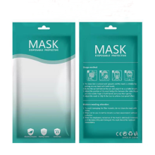 High Quality Disposable Children Face Mask Package Bag Customized Logo Zipper Plastic Bags