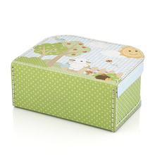 Tin lunch box with handle cardboard toy box purple suitcase