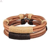 Minimalist Hide Rope Leather Bracelet, Handmade Bangle Couple Leather Rope Bracelet
