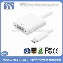 Novo USB3.1 USB-C Tipo C para VGA Adaptador DP Modo Alt USB 3.1 tipo para vga para o novo Macbook USB-C