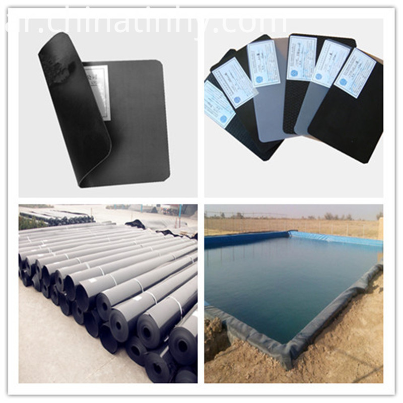 Soomth surface 1.5mm HDPE geomembrane liner for landfill