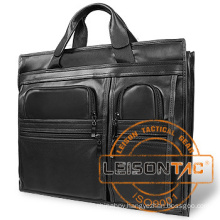 Leather Ballistic Briefcase with NIJ level IIIA panels