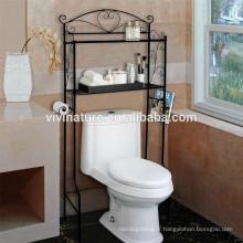 Vivinature Au-dessus de l'étagère de toilette, étagère de salle de bains Organizer Storage Rack