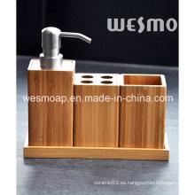 Juego de baño de bambú compacto respetuoso del medio ambiente