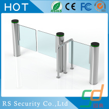 Retractable Fitness Center Glass Turnstile System