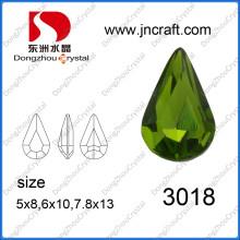 High Refraction Stylish Synthetic Lead Free Multi Size Machine Cut Sew on Point Back Cut Shape Gemstone for Wedding Dress