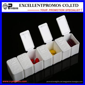 Wöchentliche Qualitätslogo Kundenspezifische Pillbox (EP-028)