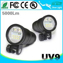Hohe Helligkeit 10000 Lumen Schnorchel Taschenlampe Tauchausrüstung UV9