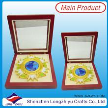Kundenspezifische Medaillen Sport Military Award Medaille mit Box Verpackung