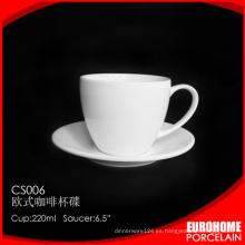 plato y taza de café de porcelana blanca eurohome vajilla por mayor