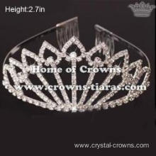 Wholesale Crystal Princess Crowns In Heart Shaped