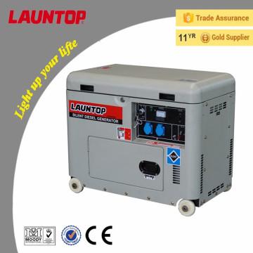 CE alta qualidade 5kw silencioso gerador a diesel com 4 tempos, refrigerado a ar, motor de cilindro único