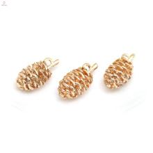Позолоченные медные ожерелья DIY аксессуары шишка подвески ювелирные изделия