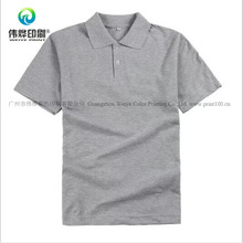 100% Cotton Printing Polo with Collar Garment