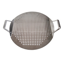Stainless Steel Pizza Pan with Handle