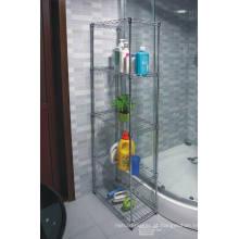 Banheiro de canto Rack de armazenamento de aço inoxidável (CJ6020120B5C)