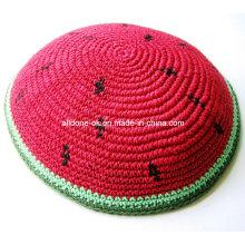 Judaica Jewish Kippa Kippot Kippah Kipa Prayer Cap, DMC Thread Knitted Kippah