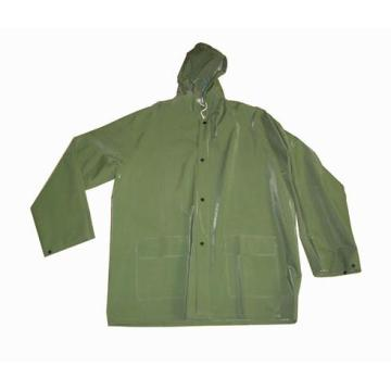 Army Green Pvc Polyester Raincoat