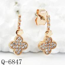 Dernières boucles d'oreilles Styles 925 bijoux en argent (Q-6847)
