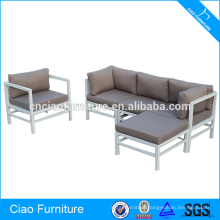 Living Room Furniture White Aluminum Frame Corner Sofa