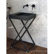 Shanxi black granite pedestal sink